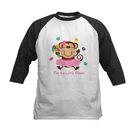 Monkey Little Sister Kids Baseball Jersey