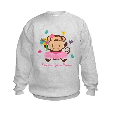 Monkey Little Sister Kids Sweatshirt