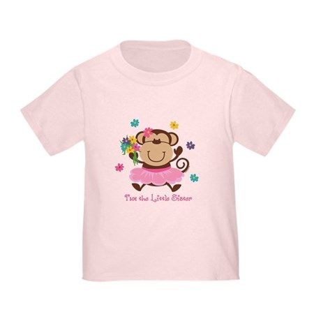 Monkey Little Sister Toddler T-Shirt