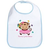 Monkey Little Sister Bib