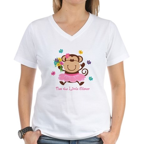 Monkey Little Sister Women's V-Neck T-Shirt