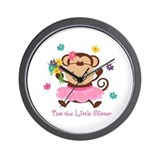 Monkey Little Sister Wall Clock