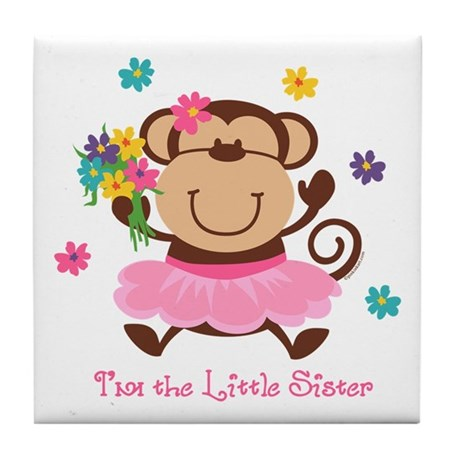 Monkey Little Sister Tile Coaster