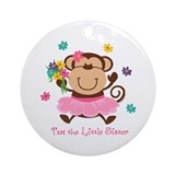 Monkey Little Sister Ornament (Round)