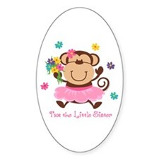 Monkey Little Sister Oval Decal