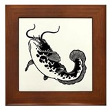 Black Catfish Framed Tile