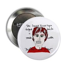 "She Used Duct Tape 2.25"" Button (10 pack)"
