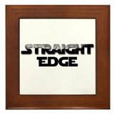 Straight Edge Clean Font Framed Tile