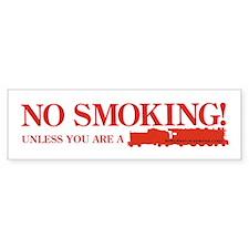 No Smoking Steam Engine Sign Bumper Bumper Sticker