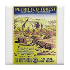 Petrified Forest Vintage WPA Art Tile Coaster