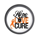 Leukemia HOPE LOVE CURE Wall Clock