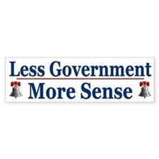 Less Government More Sense ~ Bumper Sticker
