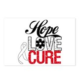Lung Cancer HOPE CURE Postcards (Package of 8)