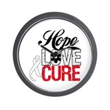 Lung Cancer HOPE CURE Wall Clock
