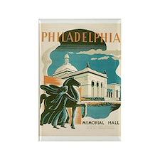 Philadelphia Memorial Hall WPA Rectangle Magnet