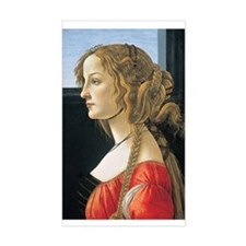 Portrait of a Young Woman. Rectangle Decal