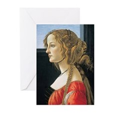 Portrait of a Young Woman. Greeting Cards (Pk of 2
