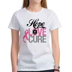 Breast Cancer HOPE CURE Women's T-Shirt
