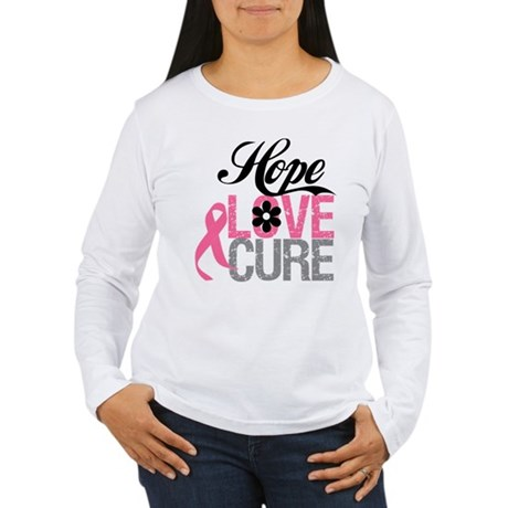 Breast Cancer HOPE CURE Women's Long Sleeve T-Shir