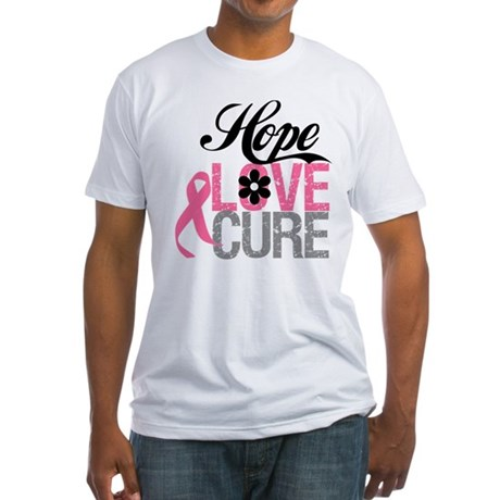 Breast Cancer HOPE CURE Fitted T-Shirt
