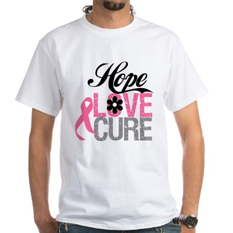 Breast Cancer HOPE CURE White T-Shirt