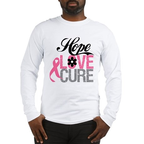 Breast Cancer HOPE CURE Long Sleeve T-Shirt
