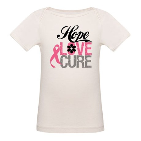 Breast Cancer HOPE CURE Organic Baby T-Shirt