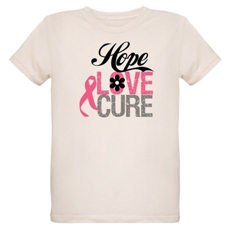 Breast Cancer HOPE CURE Organic Kids T-Shirt