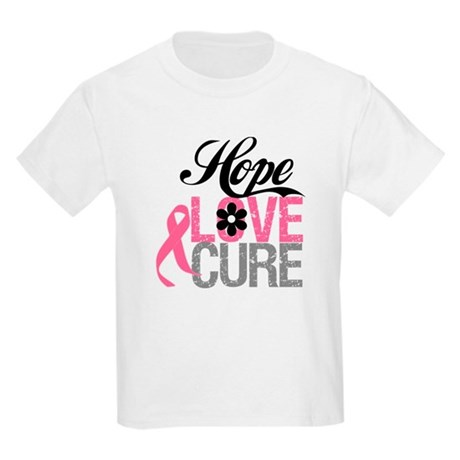 Breast Cancer HOPE CURE Kids Light T-Shirt