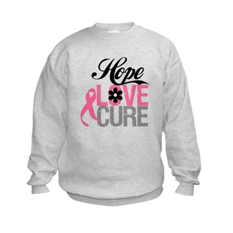 Breast Cancer HOPE CURE Kids Sweatshirt