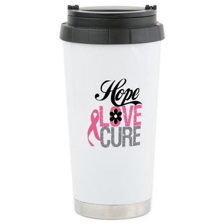 Breast Cancer HOPE CURE Ceramic Travel Mug
