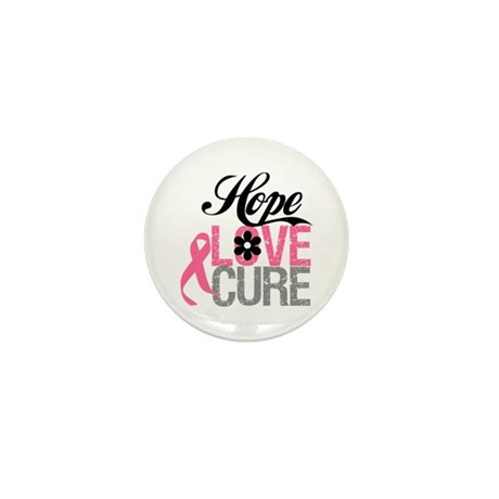 Breast Cancer HOPE CURE Mini Button