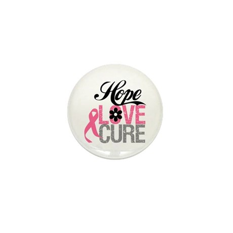 Breast Cancer HOPE CURE Mini Button (10 pack)