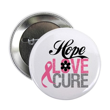 "Breast Cancer HOPE CURE 2.25"" Button"