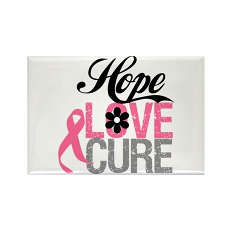 Breast Cancer HOPE CURE Rectangle Magnet (10 pack)