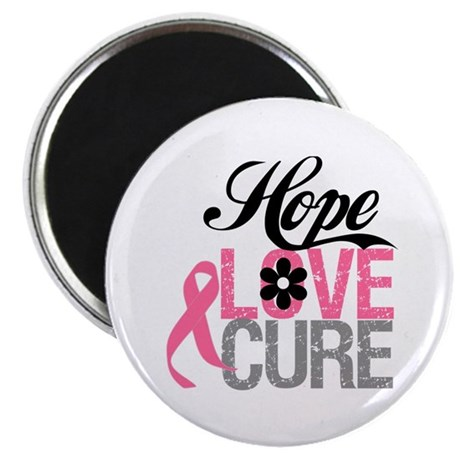 "Breast Cancer HOPE CURE 2.25"" Magnet (10 pack)"
