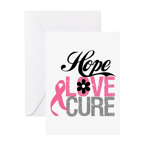 Breast Cancer HOPE CURE Greeting Card
