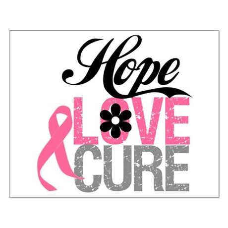 Breast Cancer HOPE CURE Small Poster