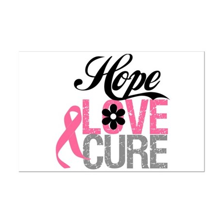 Breast Cancer HOPE CURE Mini Poster Print