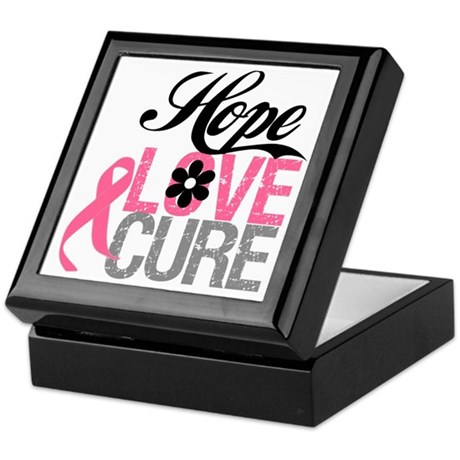 Breast Cancer HOPE CURE Keepsake Box