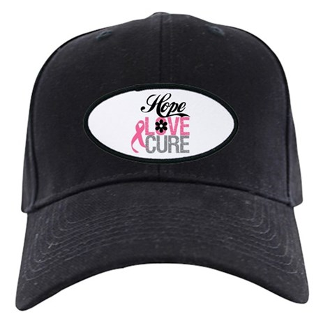 Breast Cancer HOPE CURE Black Cap