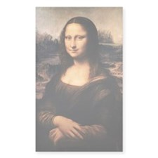 The Mona Lisa Rectangle Decal