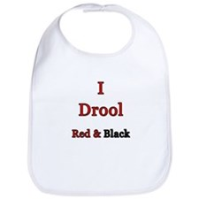 I Drool Black & Red Bib