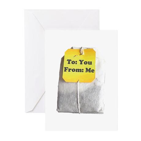 Tea Bags Greeting Cards (Pk of 10)