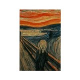 The Scream Rectangle Magnet
