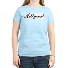 Hollywood, California Women's Pink T-Shirt
