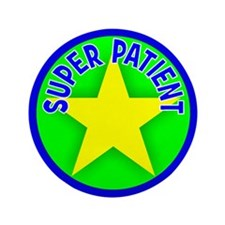 "Super Patient 3.5"" Button (100 pack)"