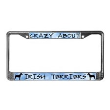 Crazy About Irish Terriers License Plate Frame