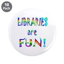 "Libraries 3.5"" Button (10 pack)"