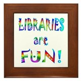 Libraries Framed Tile